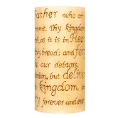 Lord's Prayer Engraved Pillar Candle